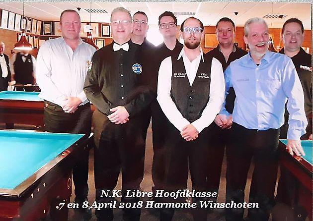 Spelers NK Libre Hoofdklasse bij Sociëteit De Harmonie - Sociëteit De Harmonie Winschoten