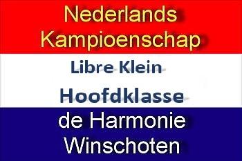 NK Libre Klein Hoofdklasse in Sociëteit De Harmonie: 7 en 8 april 2018 Sociëteit De Harmonie Winschoten