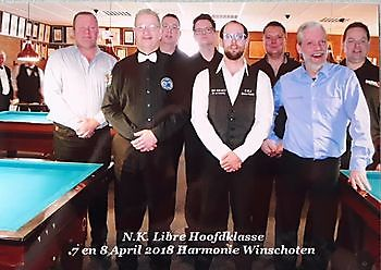 Spelers NK Libre Hoofdklasse bij Sociëteit De Harmonie Sociëteit De Harmonie Winschoten
