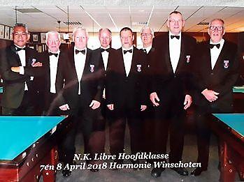 Arbiters bij het NK Libre Hoofdklasse bij Sociëteit De Harmonie Sociëteit De Harmonie Winschoten