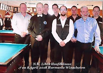 Spelers NK Libre Hoofdklasse Sociëteit De Harmonie Winschoten